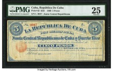 Cuba Republica de Cuba 5 Pesos 1869 Pick 62 PMG Very Fine 25. An annotation is present. From the El Don Diego Luna Collection  HID09801242017  © 2020 ...
