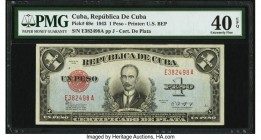Cuba Republica de Cuba 1 Peso 1943 Pick 69e PMG Extremely Fine 40 EPQ. From the El Don Diego Luna Collection  HID09801242017  © 2020 Heritage Auctions...