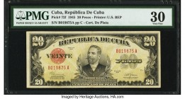 Cuba Republica de Cuba 20 Pesos 1945 Pick 72f PMG Very Fine 30. From the El Don Diego Luna Collection  HID09801242017  © 2020 Heritage Auctions | All ...