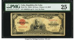 Cuba Republica de Cuba 50 Pesos 1936A Pick 73c PMG Very Fine 25. From the El Don Diego Luna Collection  HID09801242017  © 2020 Heritage Auctions | All...