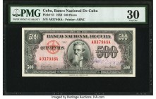 Cuba Banco Nacional de Cuba 500 Pesos 1950 Pick 83 PMG Very Fine 30. An annotation is present. From the El Don Diego Luna Collection  HID09801242017  ...