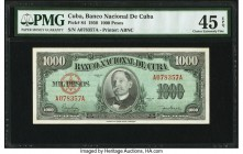 Cuba Banco Nacional de Cuba 1000 Pesos 1950 Pick 84 PMG Choice Extremely Fine 45 EPQ. From the El Don Diego Luna Collection  HID09801242017  © 2020 He...