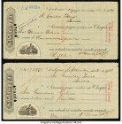 Cuba Pair of Checks from 1921 Fine. Two examples. From the El Don Diego Luna Collection  HID09801242017  © 2020 Heritage Auctions | All Rights Reserve...