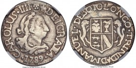 "Charles III silver ""Trinidad de Cuba"" Proclamation Medal 1789 VF Details (Plugged, Repaired) NGC, Herrera-226. 26mm. A very scarce proclamation issue ..."