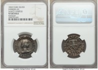 "Isabel II silver ""Sancti Spiritus"" Proclamation Medal 1834 VF Details (Tooled) NGC, Herrera-52. 25mm. From the El Don Diego Luna Collection  HID098012..."