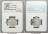 "Isabel II silver ""Santa Maria del Rosario"" Proclamation Medal 1834 AU Details (Mount Removed, Cleaned) NGC, Herrera-53. 26mm. From the El Don Diego Lu..."