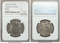"Isabel II 6-Piece Lot of Certified Proclamation Medals 1834 NGC, 1) ""Havana"" Proclamation Medal - XF40, Herrera-45. 31mm. 2) ""Jaruco"" Proclamation Med..."