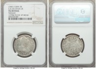 Spanish Colony. Isabel II 4-Piece Lot of Certified Counterstamped Multiple Reales ND (1841) NGC, 1) 2 Reales - VG Details (Tooled). Countermarked on S...