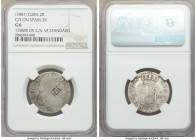 Spanish Colony. Isabel II 4-Piece Lot of Certified Counterstamped Multiple Reales ND (1841) NGC, 1) 2 Reales - G6. Countermarked on Spanish 2 Reales, ...