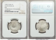 Spanish Colony. Isabel II 4-Piece Lot of Certified Counterstamped Multiple Reales ND (1841) NGC, 1) 2 Reales - G4. Countermarked on Spanish 2 Reales, ...