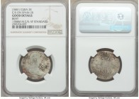 Spanish Colony. Isabel II 4-Piece Lot of Certified Counterstamped Multiple Reales ND (1841) NGC, 1) 2 Reales - Good Details (Bent). Countermarked on S...