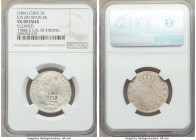 Spanish Colony. Isabel II 4-Piece Lot of Certified Counterstamped Multiple Reales ND (1841) NGC, 1) 2 Reales - VG Details (Cleaned). Countermarked on ...