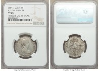 Spanish Colony. Isabel II 15-Piece Lot of Certified Counterstamped Multiple Reales ND (1841) NGC, includes an assortment of lattice-countermarked 2 Re...
