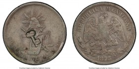 Revolutionary Counterstamped 50 Centavos ND (1872-1877) VF35 PCGS, KM-R5.1. Countermarked on Mexico 50 Centavos, 1873 Go-S. From the El Don Diego Luna...