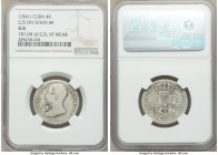 3-Piece Lot of Certified Counterstamped Multiple Reales, 1) Spanish Colony. Isabel II Countermarked 4 Reales ND (1841) - G6 NGC. Countermarked on Span...