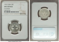 Republic 20 Centavos 1932 UNC Details (Cleaned) NGC, KM13.2. From the El Don Diego Luna Collection  HID09801242017  © 2020 Heritage Auctions | All Rig...
