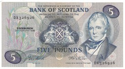Scotland, 5 pounds 1988