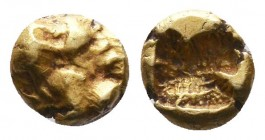 IONIA. Uncertain. Circa 550-500 BC. EL.  Condition: Very Fine  Weight:0.38 gr Diameter: 6 mm
