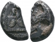 LYCIA, Phaselis. Circa 530 BC. AR Cut Fragment!  Condition: Very Fine  Weight:7.69 gr Diameter: 21 mm