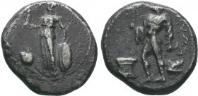 PAMPHILIA, Side. 400-350 BC. AR Stater . Athena standing with Nike, spear and shield / Apollo standing sacrificing at altar. SNG.BN.645v.   Condition:...