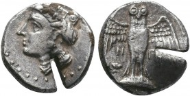 Pontos, Amisos as Peiraieus AR Drachm. 4th century BC.   Condition: Very Fine  Weight:5.66 gr Diameter: 18 mm
