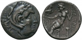 "Kings of Macedon . Alexander III. ""The Great"" (336-323 BC). AR Drachm   Condition: Very Fine  Weight:3.90 gr Diameter: 18 mm"