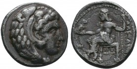 "Kings of Macedon . Alexander III. ""The Great"" (336-323 BC). AR Drachm   Condition: Very Fine  Weight:3.68 gr Diameter: 16 mm"