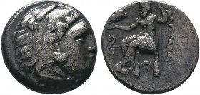 "Kings of Macedon . Alexander III. ""The Great"" (336-323 BC). AR Drachm   Condition: Very Fine  Weight:4.06 gr Diameter: 17 mm"