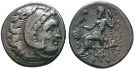 "Kings of Macedon . Alexander III. ""The Great"" (336-323 BC). AR Drachm   Condition: Very Fine  Weight:4.59 gr Diameter: 18 mm"