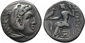 "Kings of Macedon . Alexander III. ""The Great"" (336-323 BC). AR Drachm   Condition: Very Fine  Weight:4.13 gr Diameter: 17 mm"