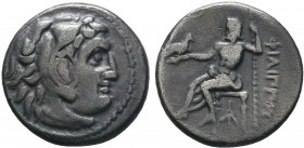 "Kings of Macedon . Alexander III. ""The Great"" (336-323 BC). AR Drachm   Condition: Very Fine  Weight:4.05 gr Diameter: 17 mm"