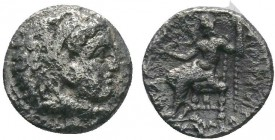 "Kings of Macedon . Alexander III. ""The Great"" (336-323 BC). AR Drachm   Condition: Very Fine  Weight:0.56 gr Diameter: 9 mm"