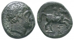 Kings of Macedon . Philip II, AE Unit 359-336 BC  Condition: Very Fine  Weight:6.74 gr Diameter: 18 mm
