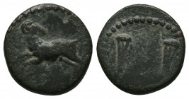 PHARAONIC KINGS OF EGYPT. Nektanebo II (361-343 BC). Ae. Obv: Ram leaping left, head right. Rev: Scales. Weiser 1.  Condition: Very Fine  Weight:2.70 ...