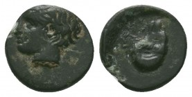 Troas, Kebren. 400-310 B.C. AE  Condition: Very Fine  Weight:0.64 gr Diameter: 9 mm