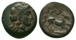 Gargara , Troas. AE c. late 3rd to early 2nd Century BC.  Condition: Very Fine  Weight:2.05 gr Diameter: 13 mm