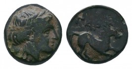 Gargara , Troas. AE. late 3rd to early 2nd Century BC.  Condition: Very Fine  Weight:0.65 gr Diameter: 8 mm