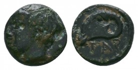 Gargara , Troas. AE c. late 3rd to early 2nd Century BC.  Condition: Very Fine  Weight:0.64 gr Diameter: 8 mm
