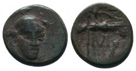 Troas. Ilion (Troy) Æ12 / Athena Ae, 2nd-1st Century BC  Condition: Very Fine  Weight:1.81 gr Diameter: 13 mm