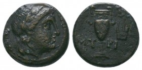 AEOLIS. Myrina. Ae (400-200 BC).  Condition: Very Fine  Weight:3.71 gr Diameter: 16 mm