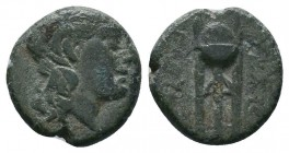 SELEUKID KINGDOM. Antiochos II Theos (261-246 BC). Ae. Sardes.   Condition: Very Fine  Weight:2.70 gr Diameter: 14 mm