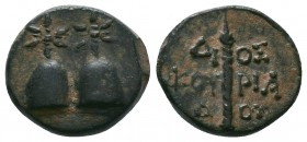 KOLCHIS. Dioskurias. Late 2nd Century BC. AE  Condition: Very Fine  Weight:4.82 gr Diameter: 17 mm