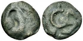 Aedui AE cast potin, rare 