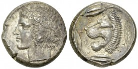 Leontinoi AR Tetradrachm, c. 430-425 BC 