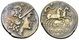 Pinarius Natta AR Denarius, 149 BC 