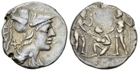 Ti. Veturius AR Denarius, 137 BC 