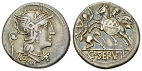 C. Servilius Vatia AR Denarius, 127 BC 