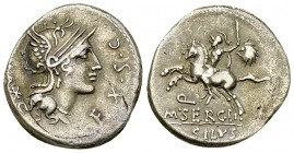 M. Sergius Silus AR Denarius, 116 or 115 BC 