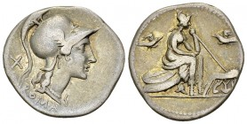 Anonymous AR Denarius, 115/114 BC 