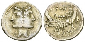 C. Fonteius AR Denarius, 114 or 113 BC 